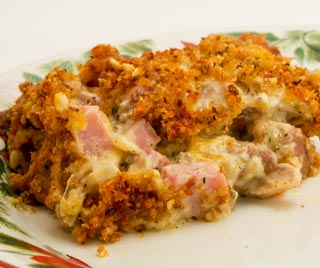 Leftover Turkey and Ham Casserole